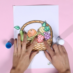 Bostik DIY Indonesia tutorial Fruit Basket Step 4