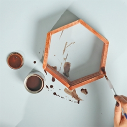 DIY Bostik Indonesia tutorials hexagon shelf project step 4