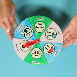 Bostik DIY Australia tutorial Emotions Wheel step 4
