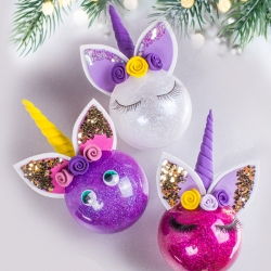 Bostik DIY South Africa Tutorial Christmas Unicorn Baubles teaser image