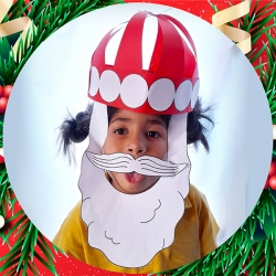 Bostik DIY South Africa Tutorial Christmas Paper Santa Hat Teaser image