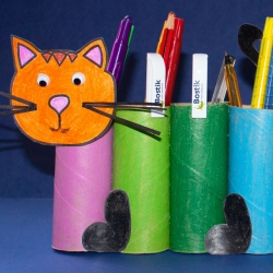 Bostik DIY South Africa Tutorial Paper Roll Cat Banner
