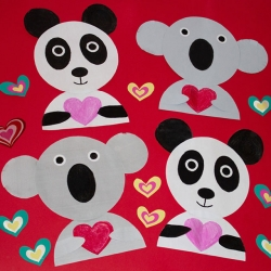 Bostik DIY South Africa Tutorial Valentines Animals banner