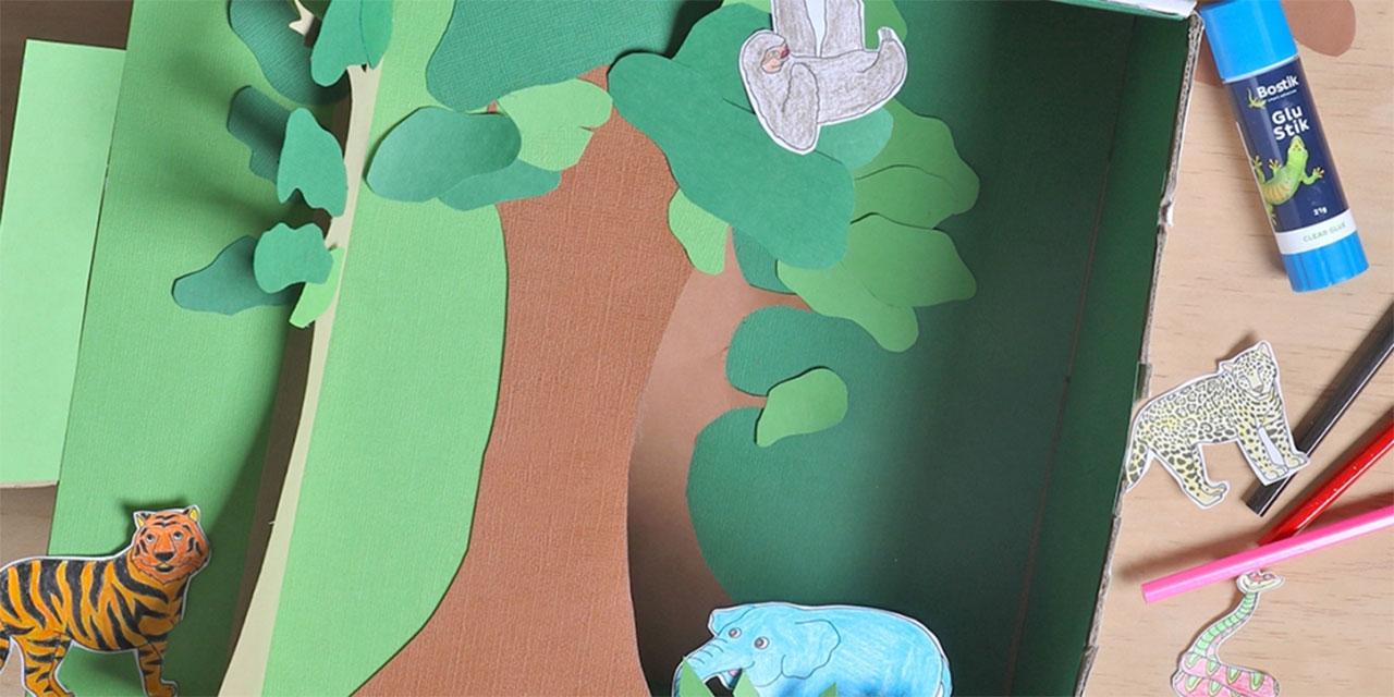 Bostik DIY Australia tutorial rainforest banner