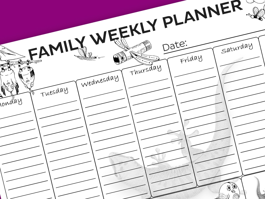 Bostik DIY South Africa Tutorial Weekly Planner banner