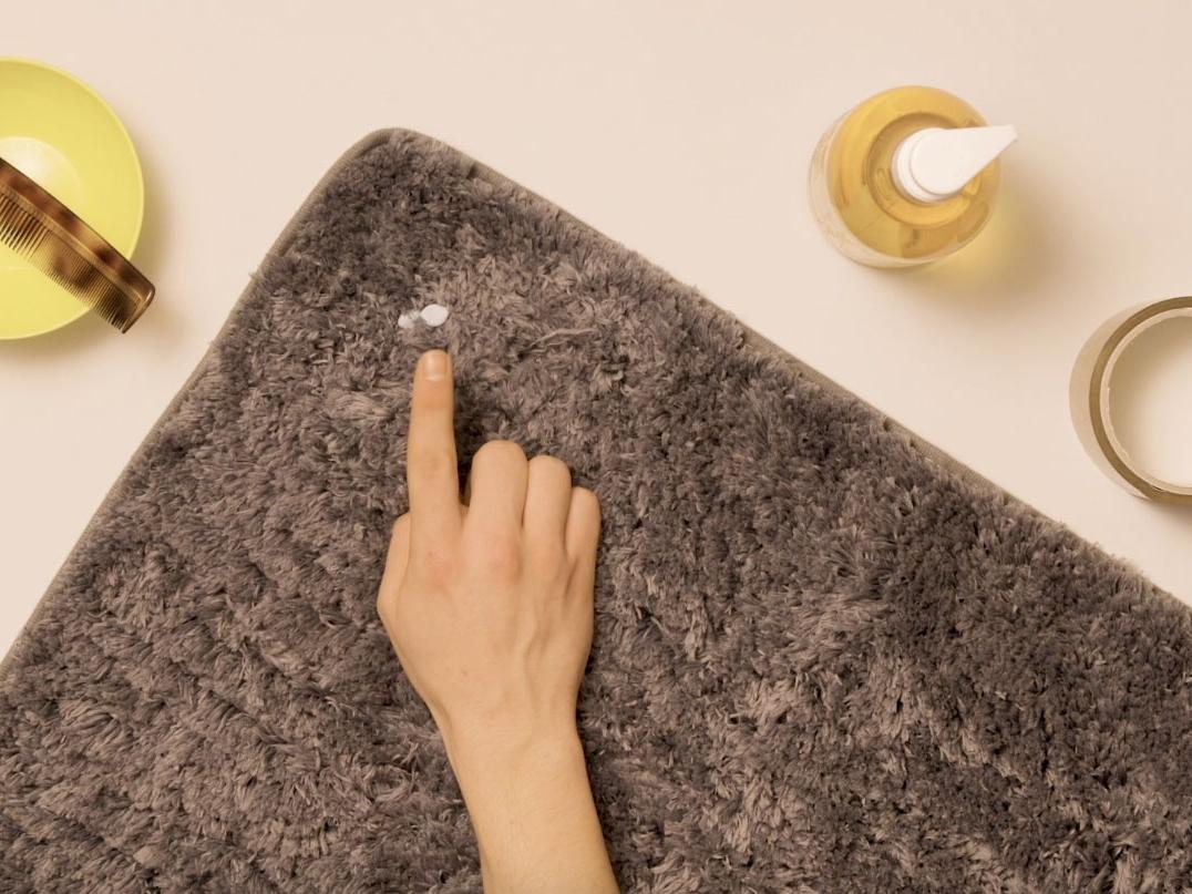 Bostik DIY United Kingdom how to remove Blu Tack from carpet step 1