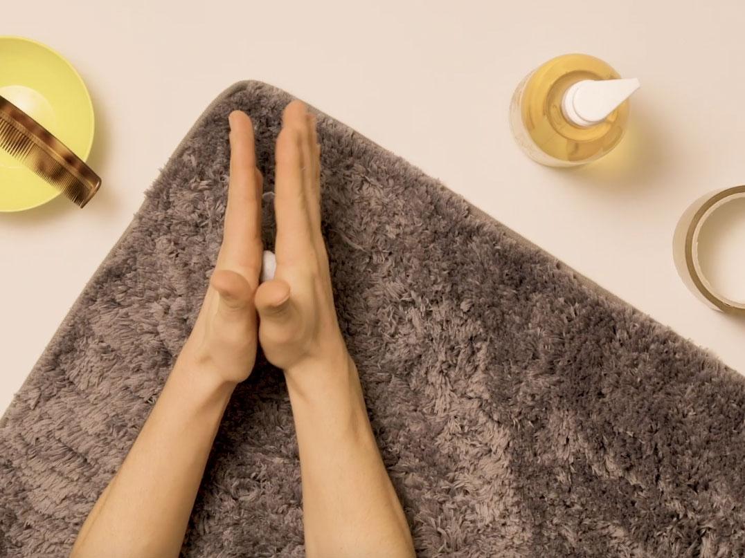 Bostik DIY United Kingdom how to remove Blu Tack from carpet step 3