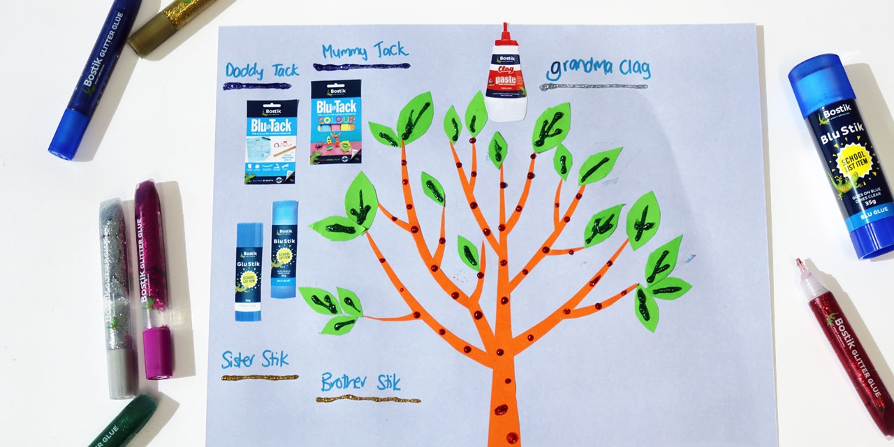 Bostik DIY Australia tutorial Family tree banner image
