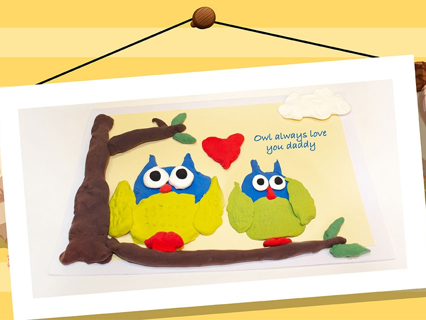Bostik DIY South Africa Tutorial Fathers Day Owl Card Banner