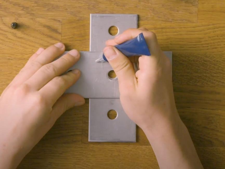 Bostik DIY United Kingdom How to glue metal to metal step 2
