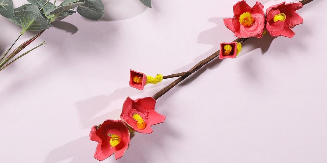 DIY Bostik Indonesia tutorials cherry blossom branch banner