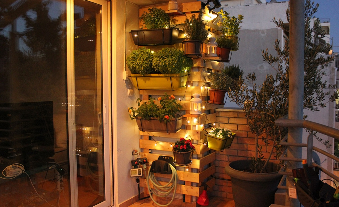 Bostik DIY Greece tutorial Balcony Garden after