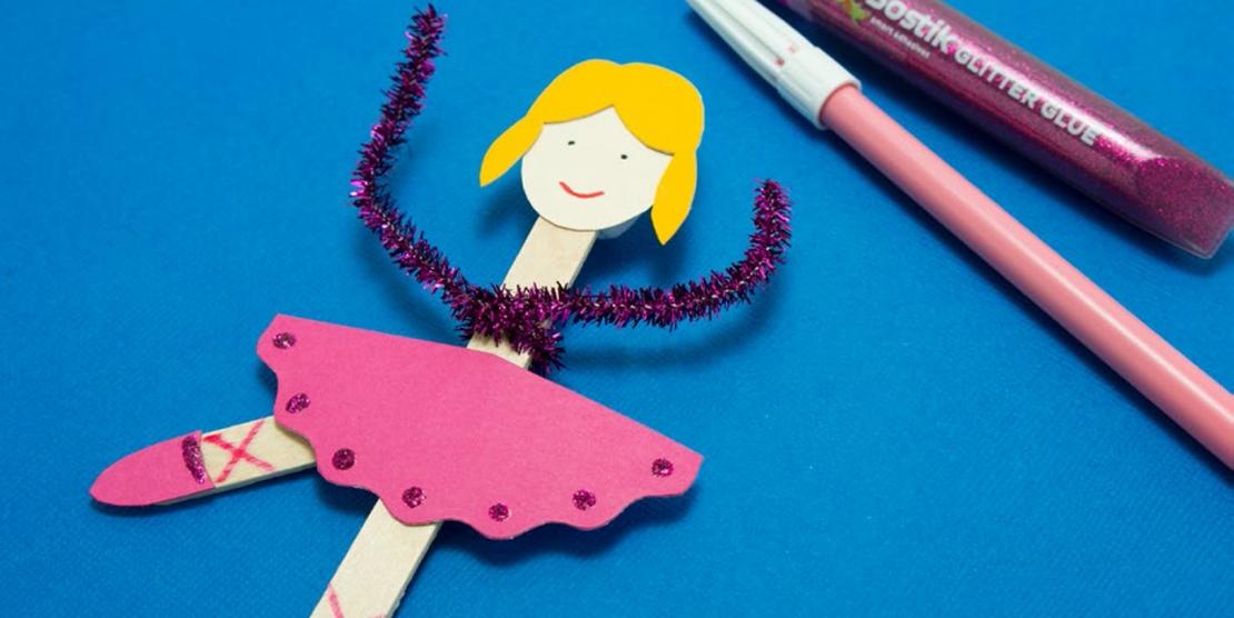 Bostik DIY tutorial ballerina banner