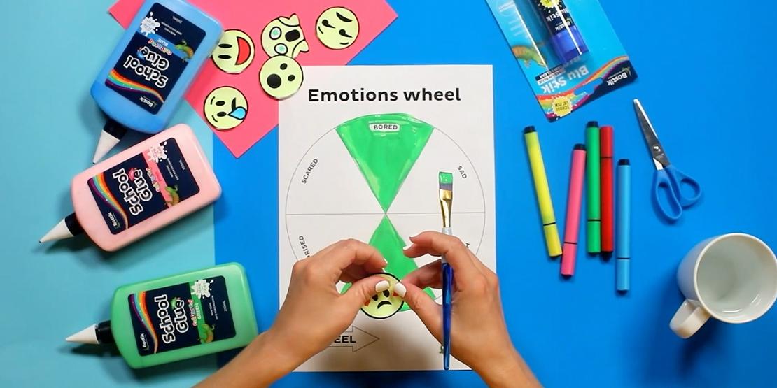 Bostik DIY Australia tutorial Emotions Wheel banner