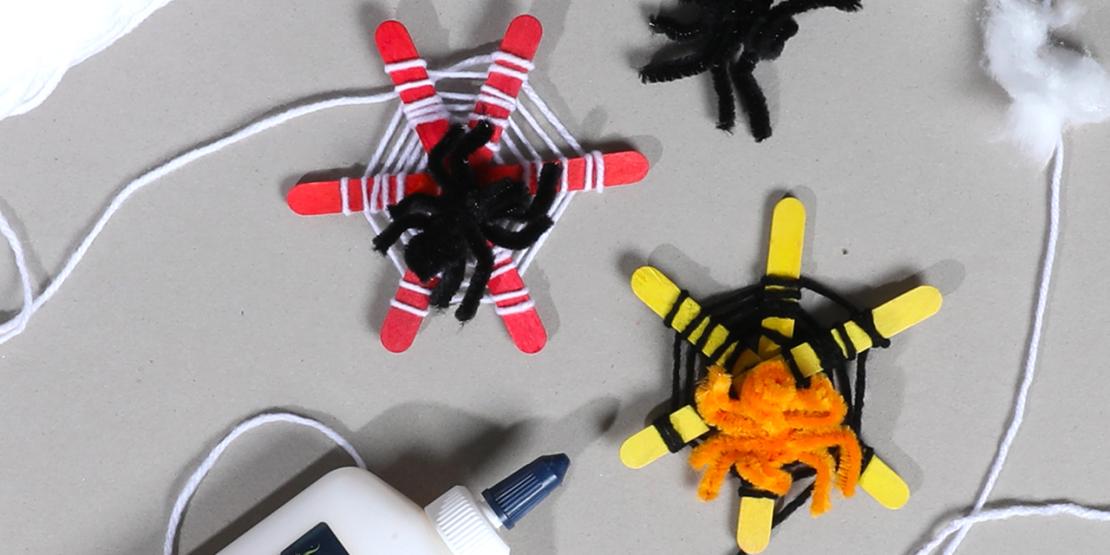 Bostik DIY Australia tutorial Halloween Spiders banner