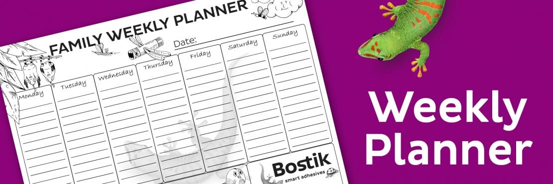 Bostik DIY South Africa Tutorial Weekly Planner banner