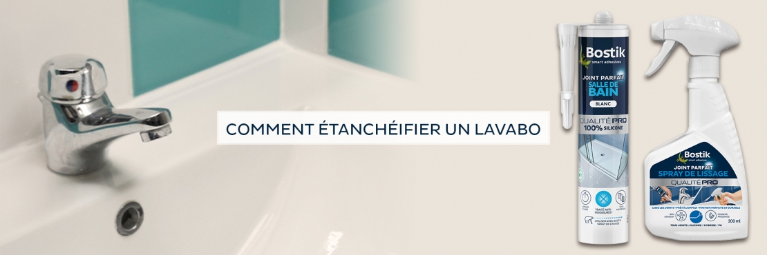 Bostik DIY France tutorial how to seal a sink banner image