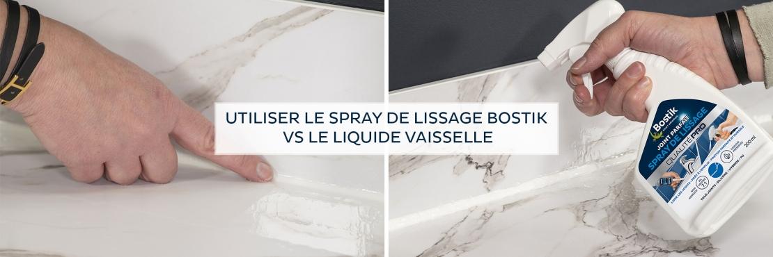 Bostik DIY France tutorial smoothing spray vs dishwashing soap banner image