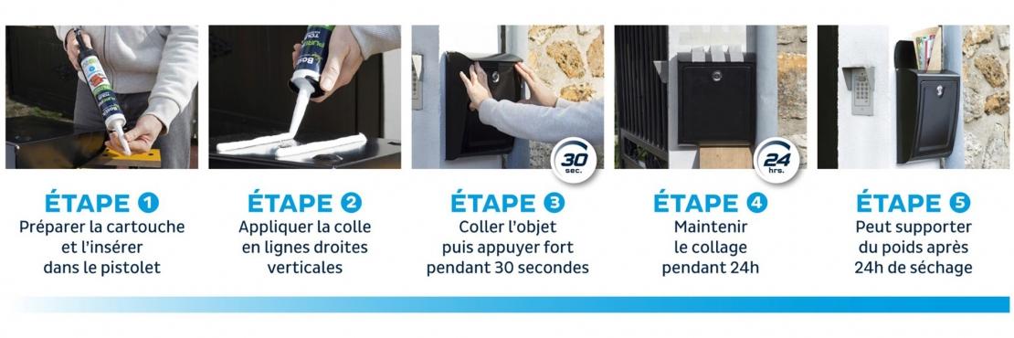 Bostik DIY France tutorial banner letter box banner image