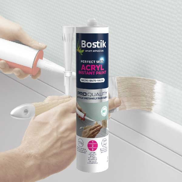Bostik DIY Lituania Perfect Seal Acryl Instant paint