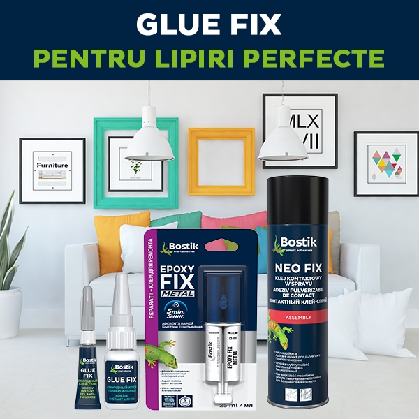 Bostik DIY Romania product teaser GLUE FIX 600 x 600