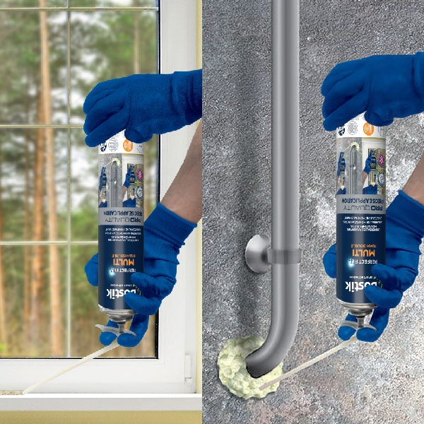 Bostik DIY LT Multi Foam usage image