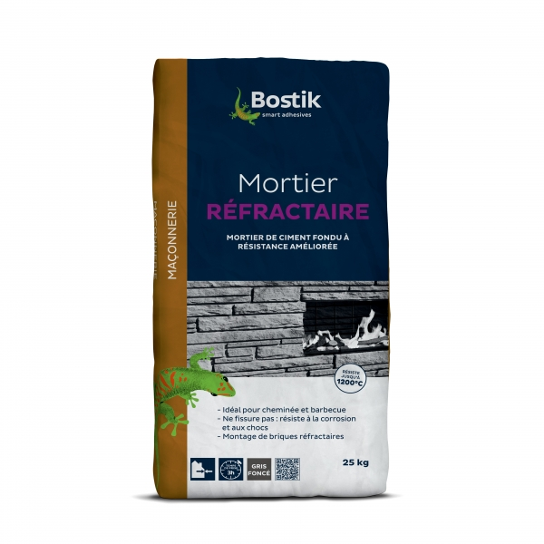 30125152_BOSTIK_MORTIER REFRACTAIRE_Packaging_avant_HD 25 kg