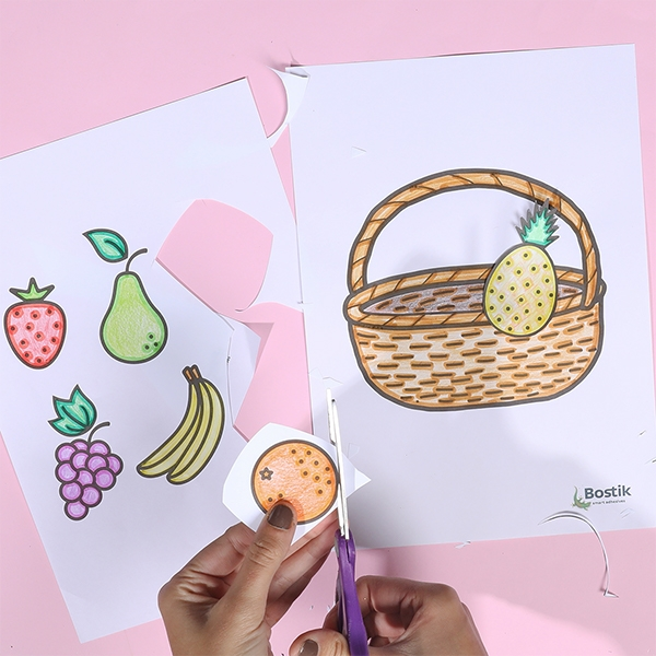 Bostik DIY Indonesia tutorial Fruit Basket Step 3