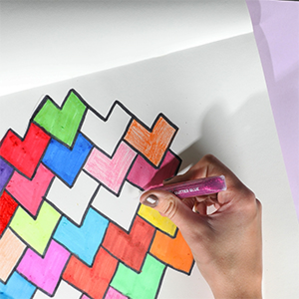 DIY Bostik Indonesia tutorail heart tesselation craft project step 4