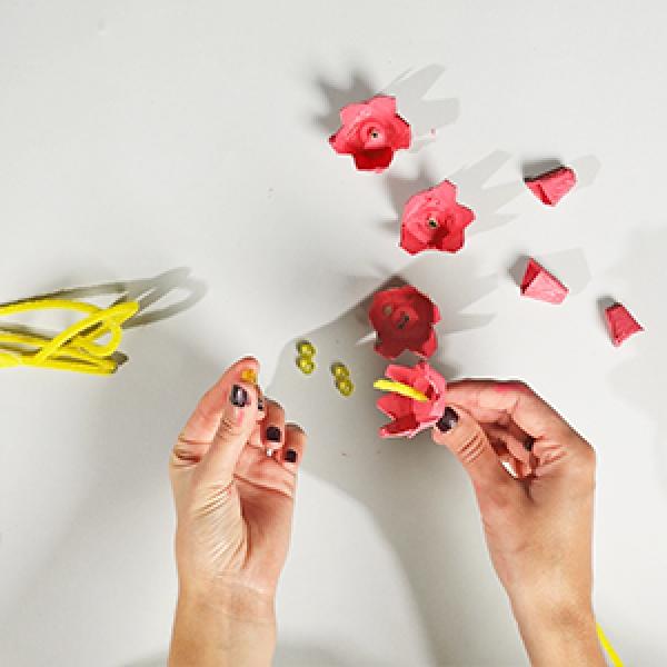 DIY Bostik Indonesia tutorials cherry blossom branch step 3