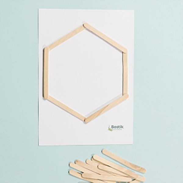 DIY Bostik Indonesia tutorials hexagon shelf project step 2