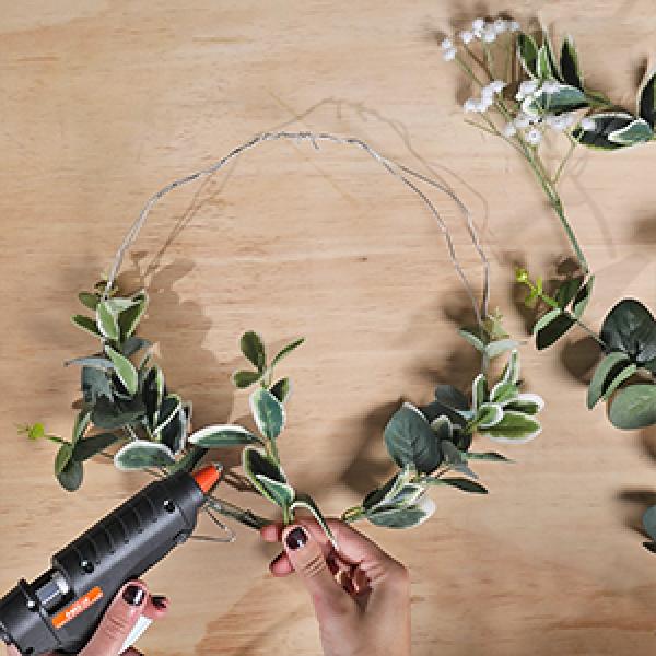 DIY Bostik Indonesia tutorials wreath project step 2