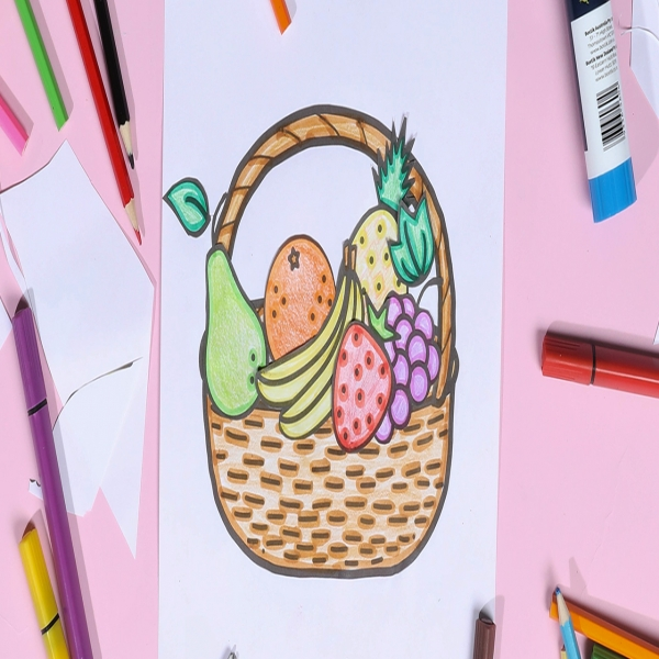 Bostik DIY Indonesia tutorial Fruit Basket Banner