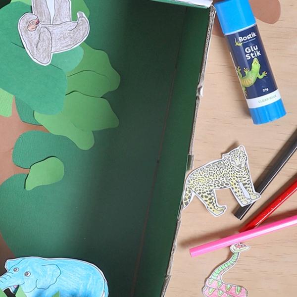 Bostik DIY Indonesia tutorial Tropical Rainforest Banner
