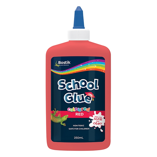 Bostik DIY Australia Stationery & Craft School Glue Coloured Red product image