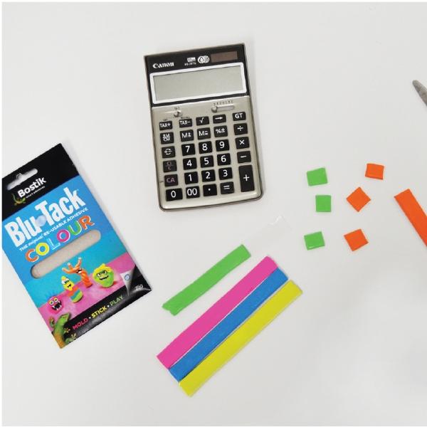 Bostik DIY Australia tutorial Blu Tack Calculator step 2