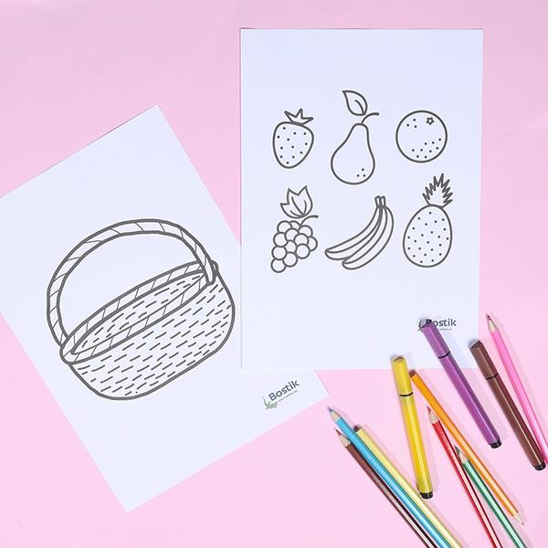 Bostik DIY tutorial FruitBasket step 1