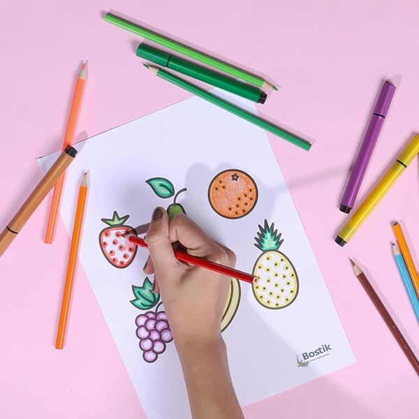 Bostik DIY tutorial FruitBasket step 2