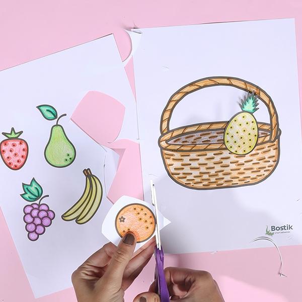 Bostik DIY tutorial FruitBasket step 3