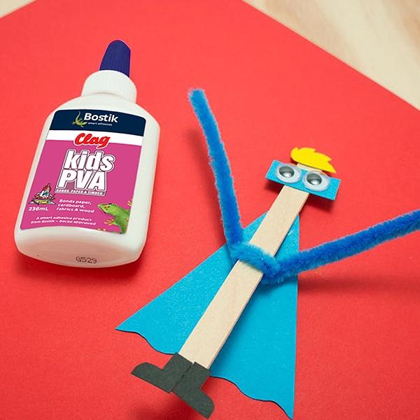 Bostik DIY Australia tutorial Superhero step 3