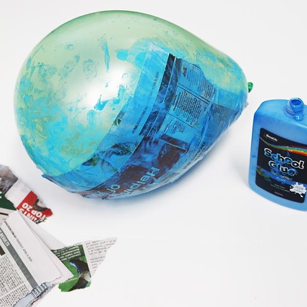 Bostik DIY tutorial Australia World Globe Step 3