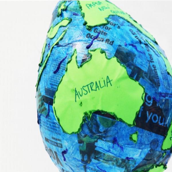 Bostik DIY tutorial Australia World Globe Step finished