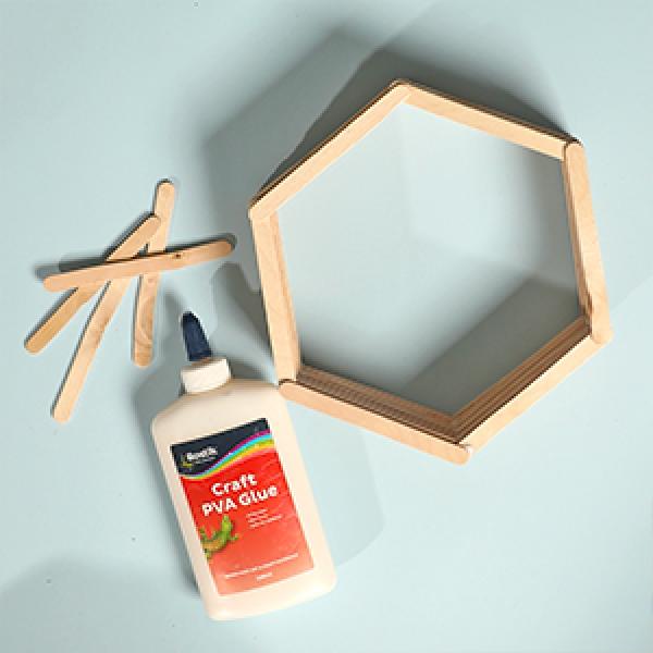 DIY Bostik Australia tutorials hexagon shelf project step 3