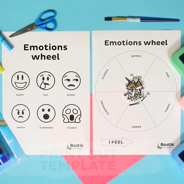 Bostik DIY Australia tutorial Emotions Wheel step 1