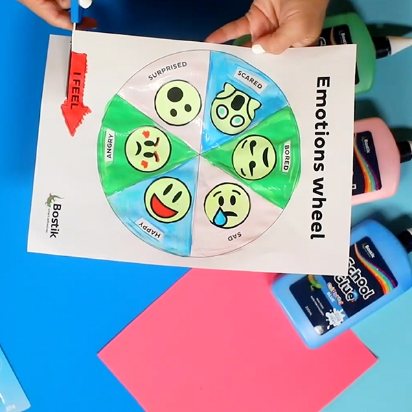 Bostik DIY Australia tutorial Emotions Wheel step 3