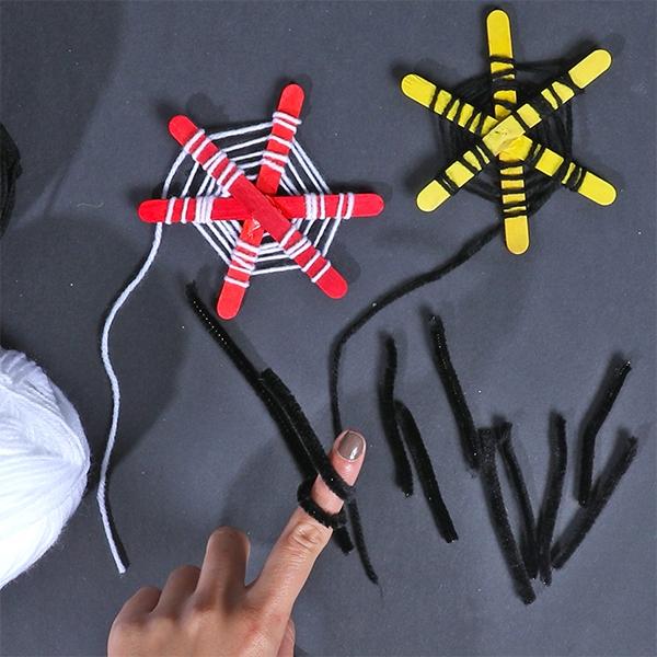 Bostik DIY Australia tutorial Halloween Spiders step 5