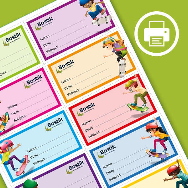 Bostik DIY South Africa Book Labels step 1