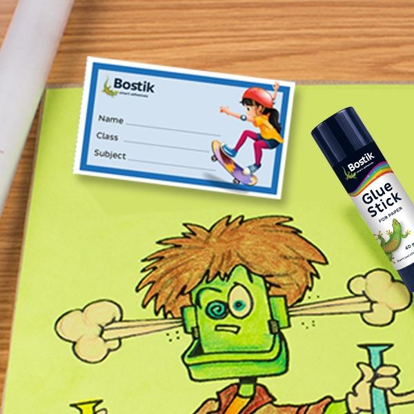 Bostik DIY South Africa Book Labels step 3