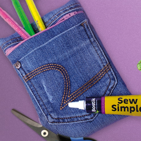 Bostik DIY South Africa Tutorial Sew Simple Pencil Bag Banner
