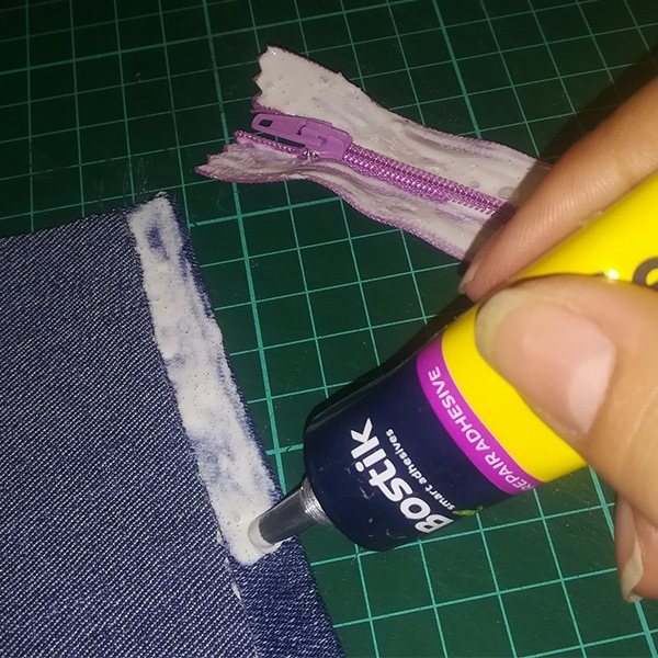 Bostik DIY South Africa Tutorial Sew Simple Pencil Bag step 2.2